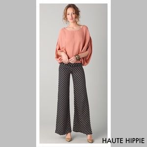 Haute Hippie Wide Leg Polka Dot Woman Pants Size2